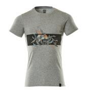 19182-965-0814 T-shirt - grey-flecked/hi-vis orange