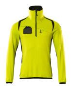 19303-316-1709 Fleece Jumper with half zip - hi-vis yellow/black