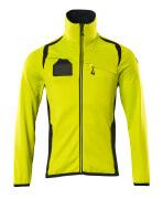 19403-316-17010 Fleece Jumper with zipper - hi-vis yellow/dark navy