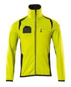 19403-316-1709 Fleece Jumper with zipper - hi-vis yellow/black