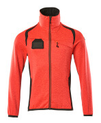 19403-316-22218 Fleece Jumper with zipper - hi-vis red/dark anthracite