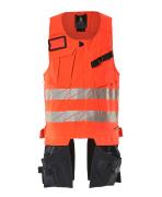 19589-711-14010 Tool Vest - hi-vis orange/dark navy