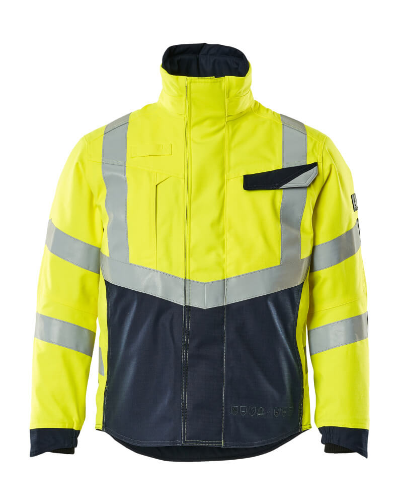 19835-217-17010 Pilot Jacket - hi-vis yellow/dark navy