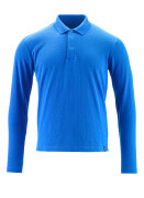 20483-961-91 Polo Shirt, long-sleeved - azure blue