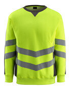 50126-932-1718 Sweatshirt - hi-vis yellow/dark anthracite