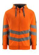 50138-932-1418 Hoodie with zipper - hi-vis orange/dark anthracite