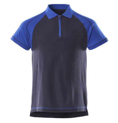 50302-260-111 Polo Shirt with chest pocket - navy/royal