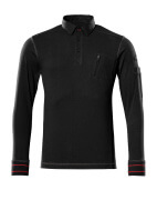 50352-833-09 Polo Sweatshirt - black