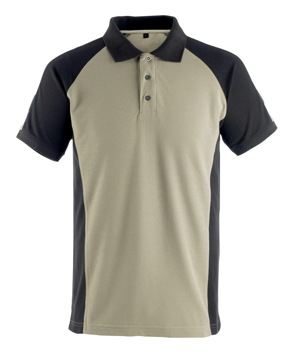 50502-260-5509 Polo shirt - light khaki/black