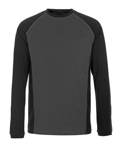 50504-250-1809 T-shirt, long-sleeved - dark anthracite/black