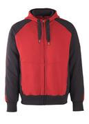 50509-811-0209 Hoodie with zipper - red/black