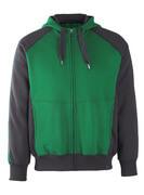 50509-811-0309 Hoodie with zipper - green/black