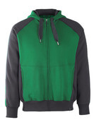 50566-963-0309 Hoodie with zipper - green/black
