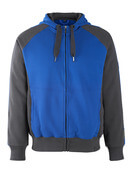 50566-963-11010 Hoodie with zipper - royal/dark navy