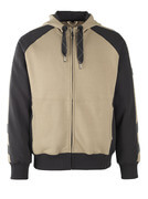 50566-963-5509 Hoodie with zipper - light khaki/black