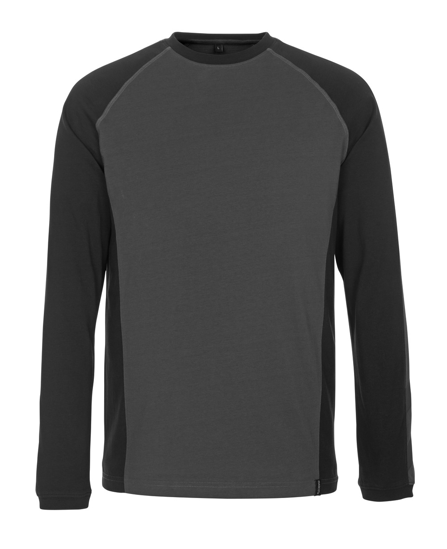 50568-959-1809 T-shirt, long-sleeved - dark anthracite/black