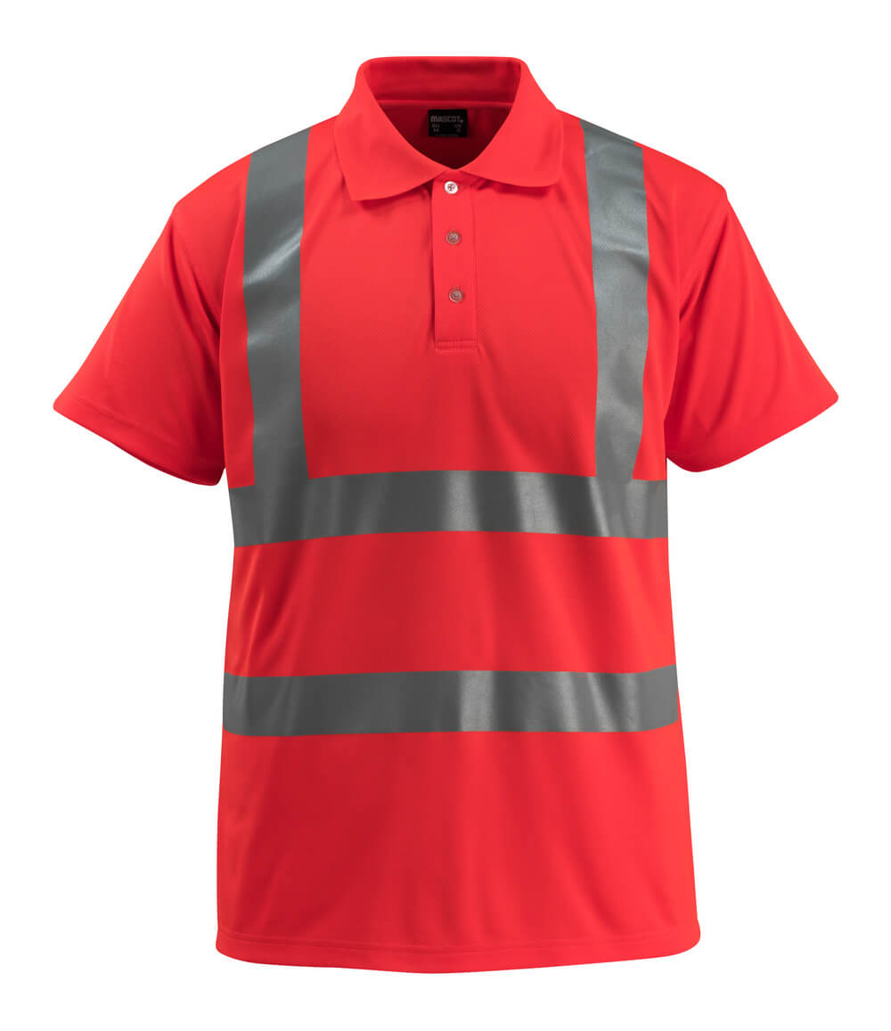 50593-976-222 Polo shirt - hi-vis red