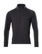 50611-971-09 Sweatshirt with half zip - black