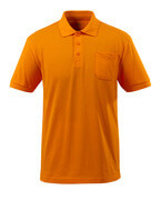 51586-968-98 Polo Shirt with chest pocket - bright orange
