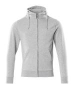 51590-970-08 Hoodie with zipper - grey-flecked
