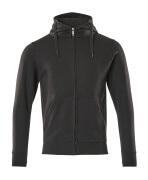 51590-970-09 Hoodie with zipper - black