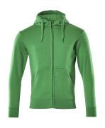 51590-970-333 Hoodie with zipper - grass green