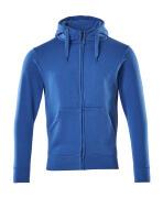 51590-970-91 Hoodie with zipper - azure blue