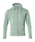 51590-970-94 Hoodie with zipper - dusty turquoise