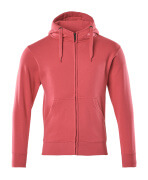 51590-970-96 Hoodie with zipper - raspberry red