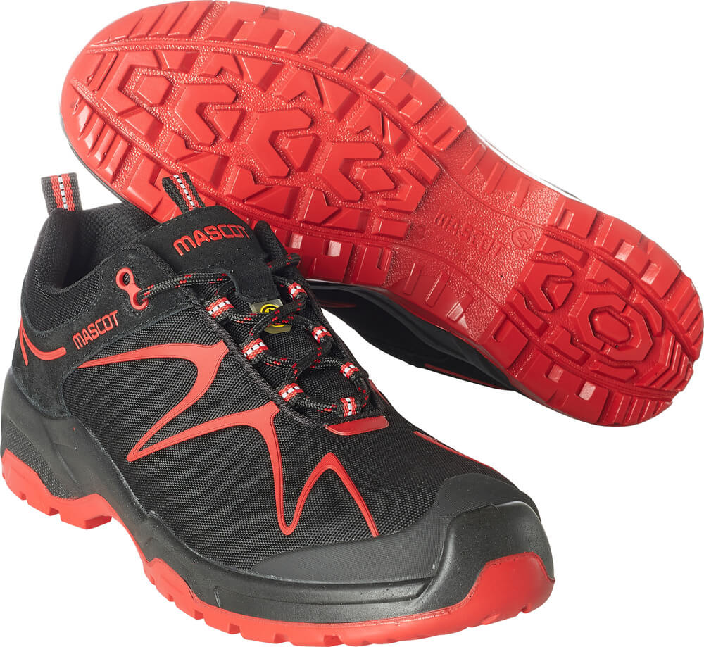 F0121-770-0902 Safety Shoe - black/red