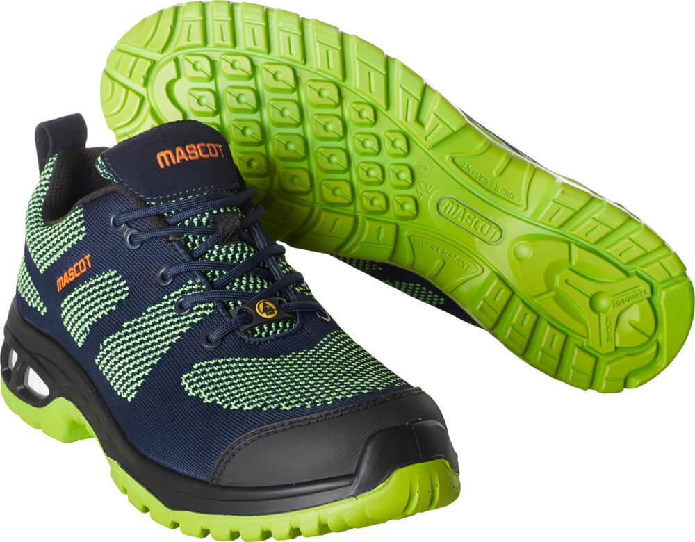 F0131-849-01033 Safety Shoe - dark navy/lime green